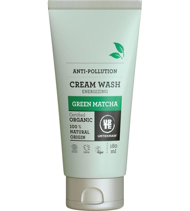 Urtekram Green Matcha Cream Wash 180 ml luomu puhdistusvoide