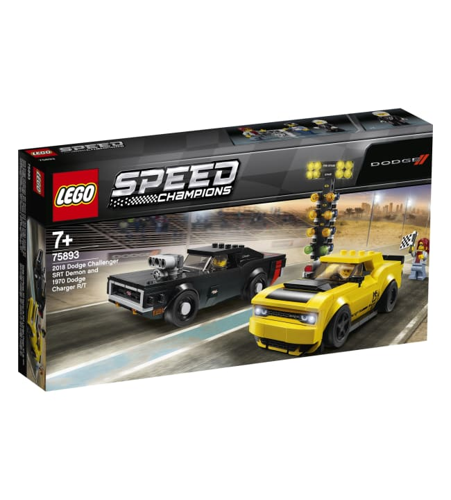 LEGO Speed Champions 75893 2018 Dodge Challenger SRT Demon ja 1970 Dodge Charger R/T