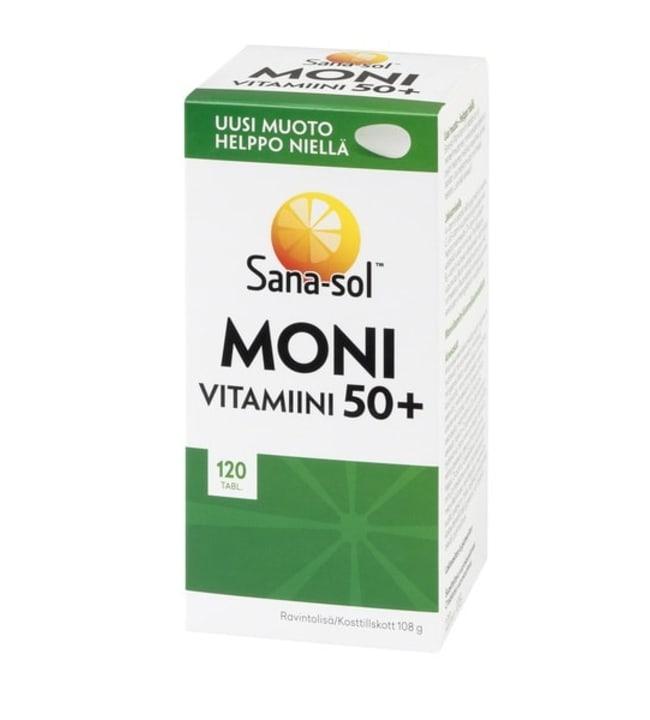 Sana-Sol Monivitamiini 50+ 120 tabl. ravintolisä