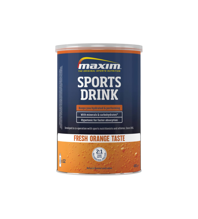 Maxim Sports Drink Fresh Orange 480 g urheilujuomajauhe