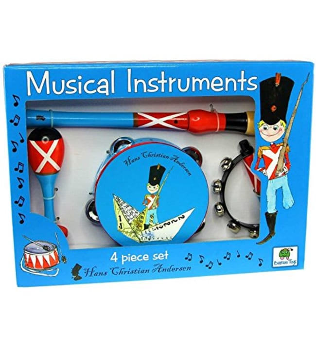 Barbo Toys 4-osainen tinasotilas soitinsetti