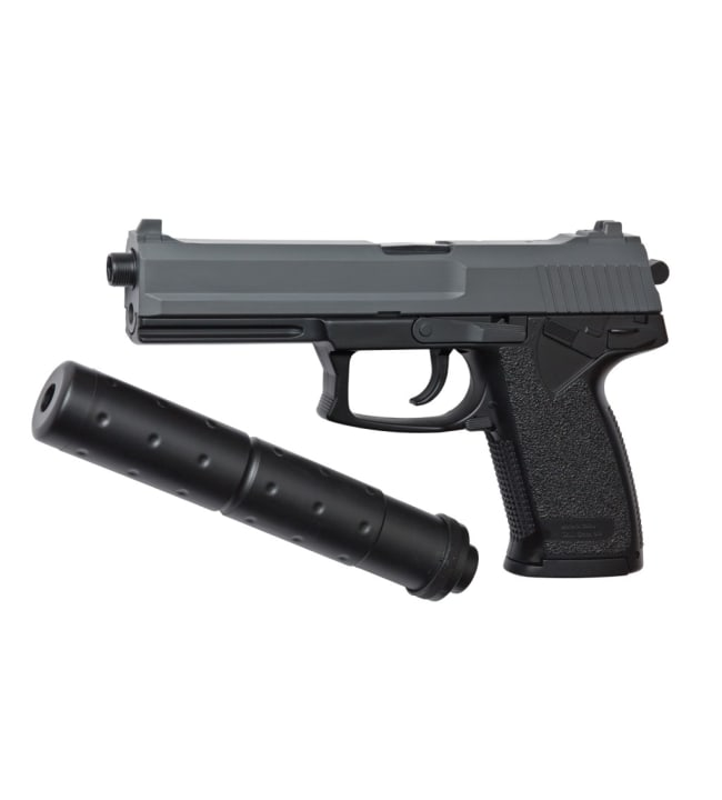 ASG DL60 Socom  jousiviritteinen airsoft pistooli äänenvaimentimella