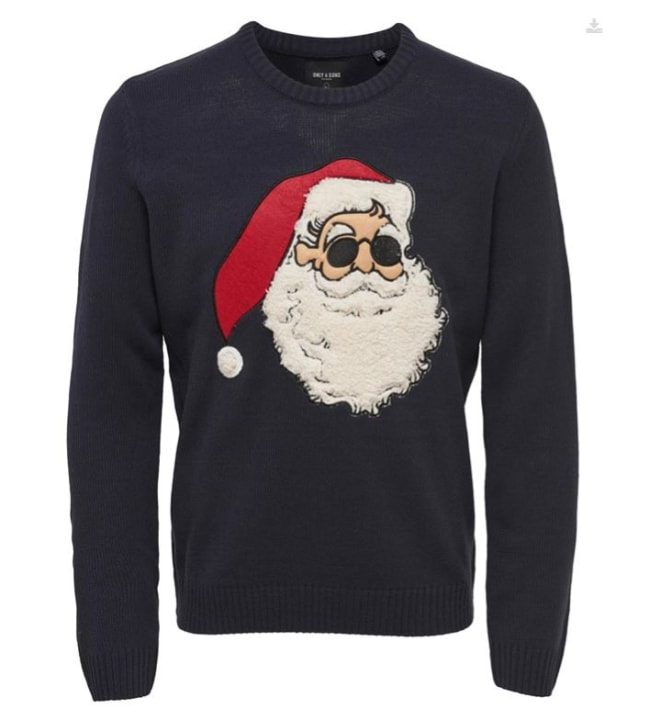 Only & Sons xmas funny miesten jouluneule