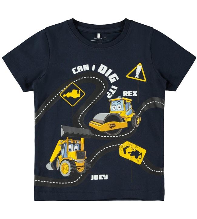 Name It Mini Jcb lasten t-paita