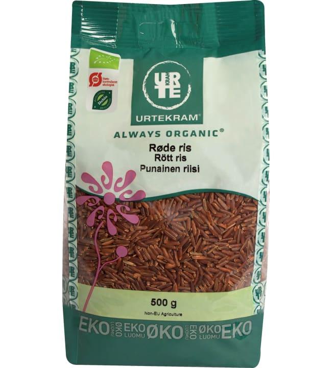 Urtekram Always Organic 500 g luomu riisi punainen