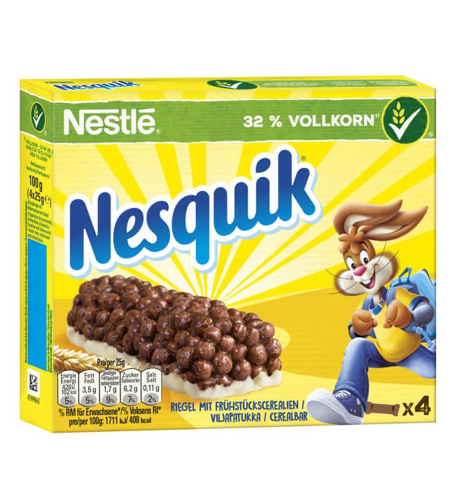 Nestlé Nesquik 4x25 g viljapatukka täysjyvävehnällä, maitopohjalla ja kaakaolla