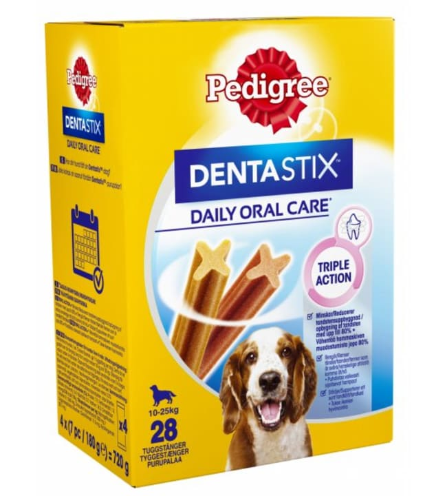 Pedigree Dentastix 4 x 180 g 28 kpl puruluu