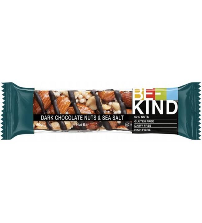 BE-KIND Dark Chocolate Nuts & Seasalt 40 g patukka