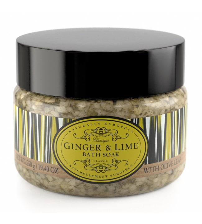 Naturally European Ginger & Lime Bath 550 g kylpysuola