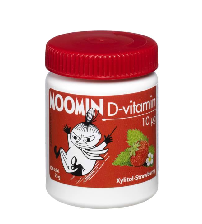 Reformi Muumi mansikka 10 µg 100 tabl d-vitamiini