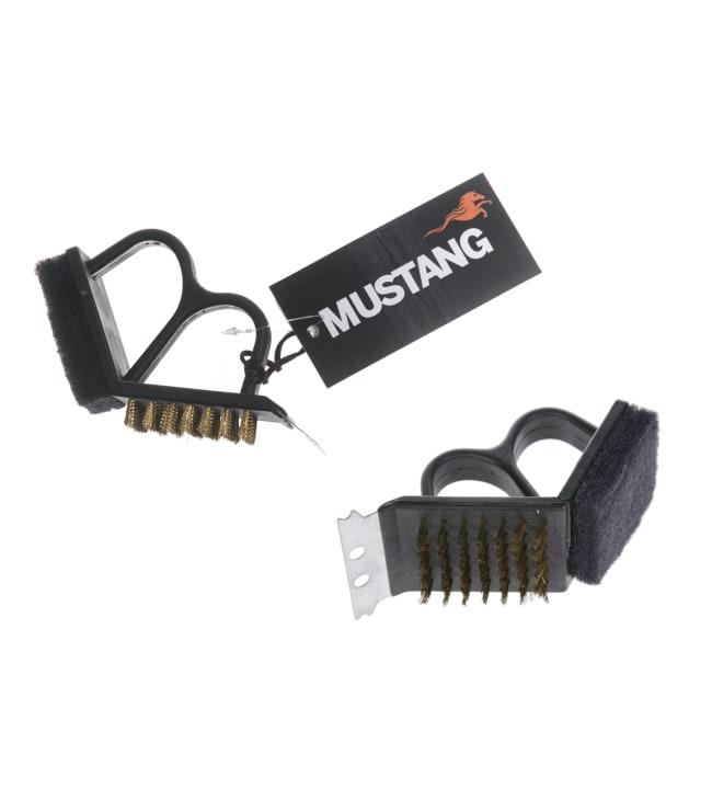 Mustang kahvallinen grilliharja