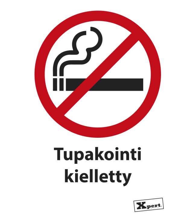 Tarmo opastekyltti, tupakointi kielletty