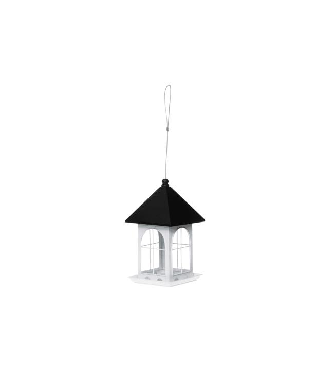 Tintti Talo 32 cm valkoinen linnunsyötin