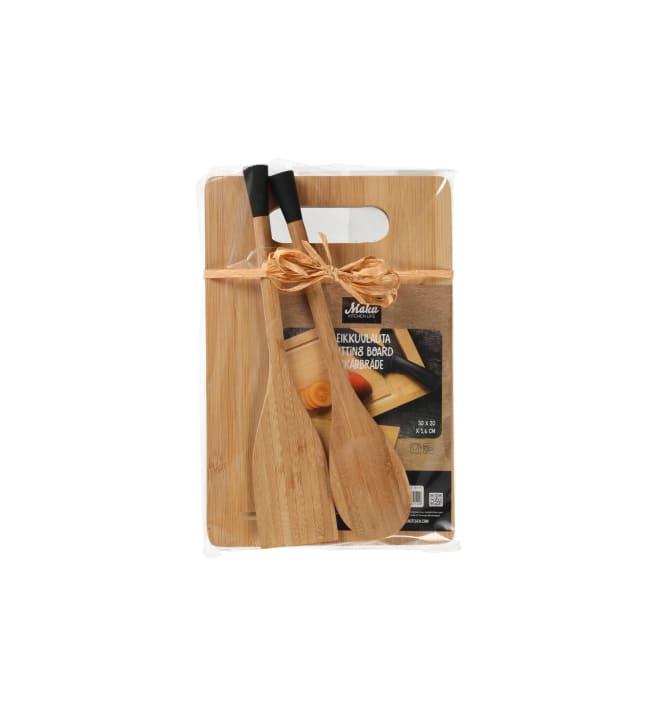 Maku bambu keittiövälineet lahjapakkaus