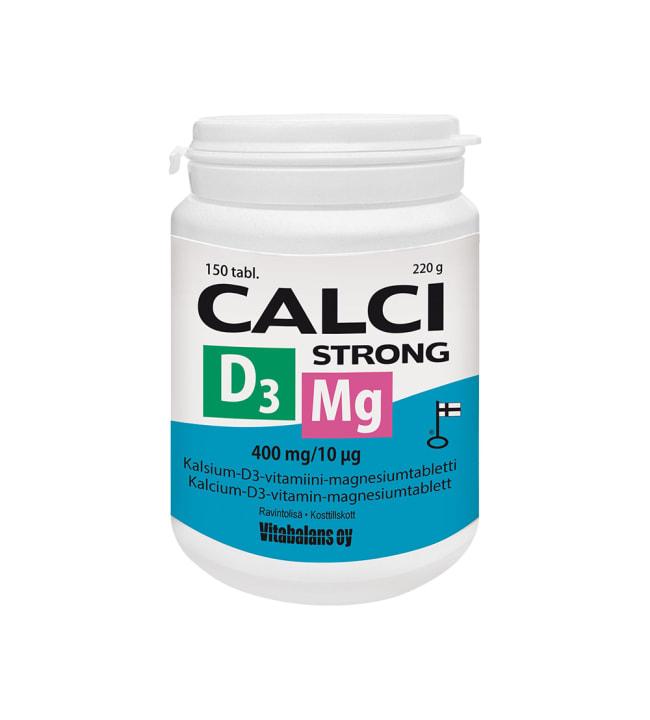Calci Strong + Magnesium + D3 150 tabl. ravintolisä