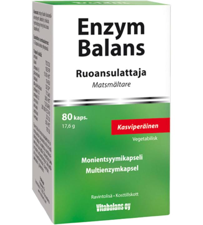 Enzymbalans 80 kaps monientsyymi ravintolisä