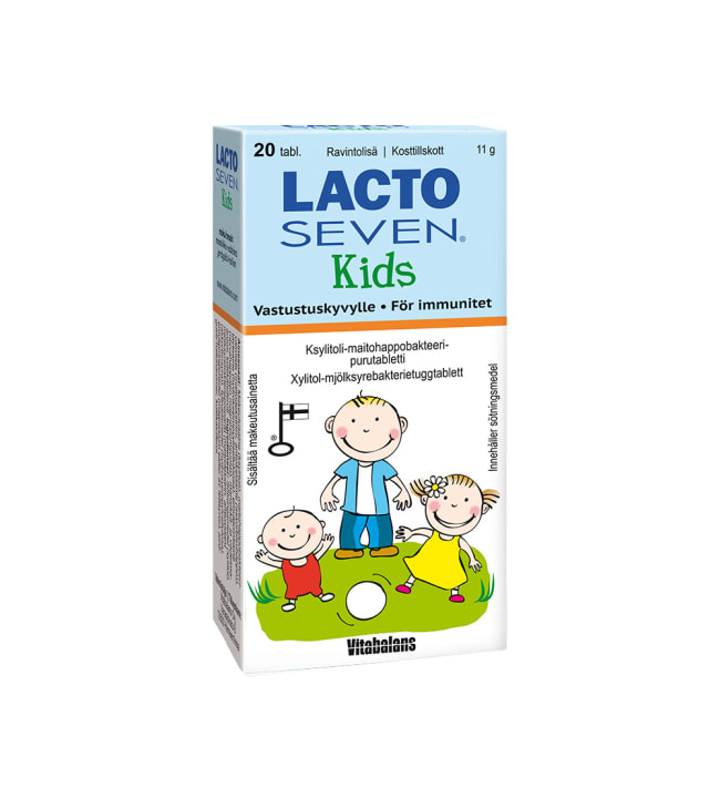 Vitabalans Lacto Seven kids 20 tabl maitohappobakteeri