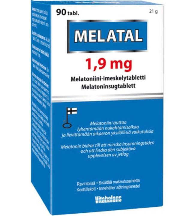 Melatal 1,9 mg 90 tabl melatoniini-imeskelytabletti