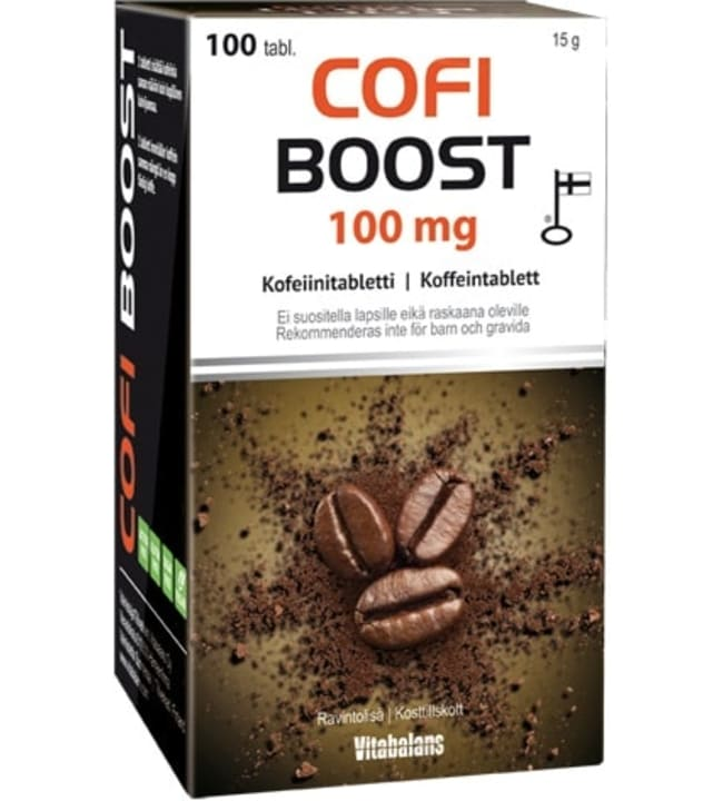 Vitabalans Cofi Boost kofeeinitabletti 100 mg 100 tabl ravintolisä
