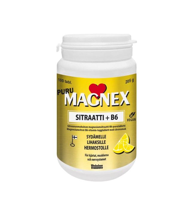 Vitabalans Magnex Sitraatti 375 mm + B6 100 tabl. ravintolisä