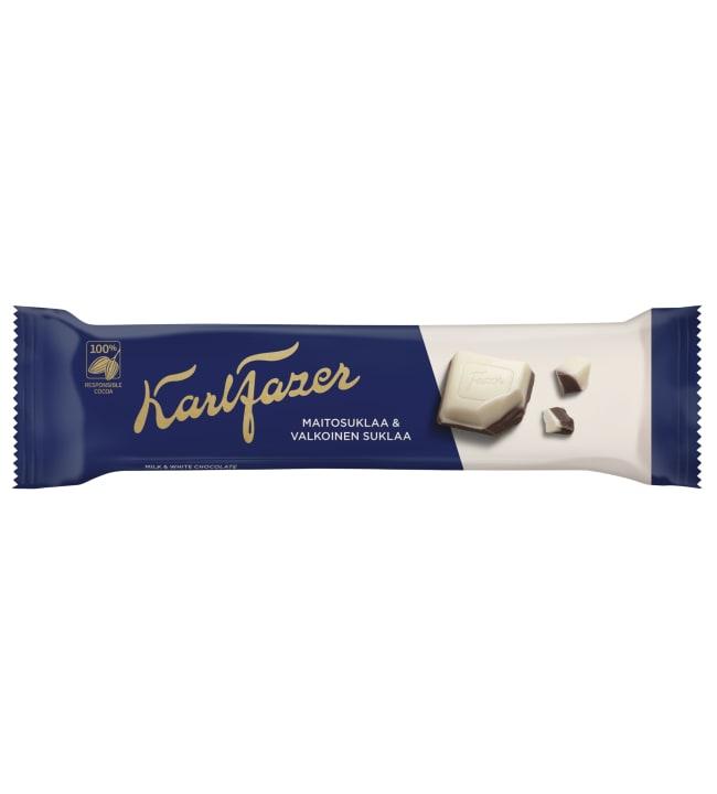 Fazer Sininen ja Valkoinen 39 g suklaapatukka
