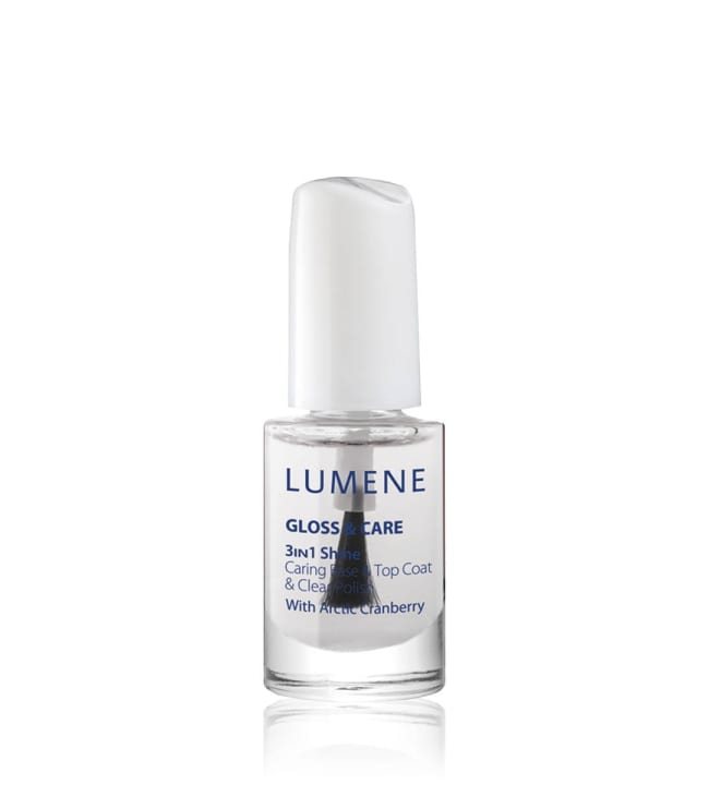 Lumene Gloss & Care 3-in-1 Shine 5 ml hoitava alus- ja päällyslakka