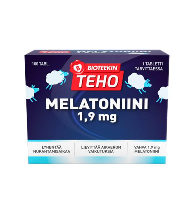 Bioteekin Teho Melatoniini 1,9 mg 100 tabl. ravintolisä