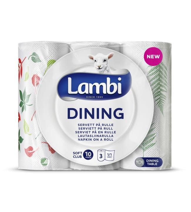 Lambi Dining 3 rl lautasliinarulla