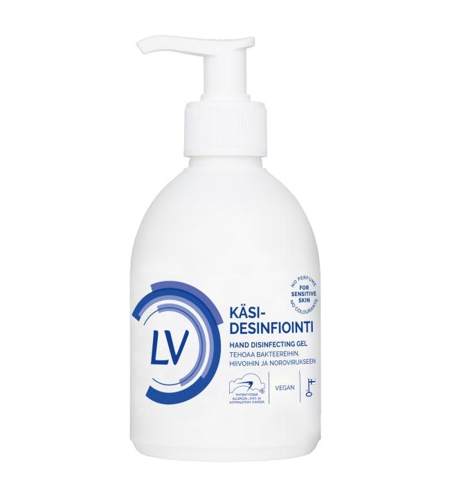LV 300 ml käsidesinfiointigeeli EN 14476 Noro