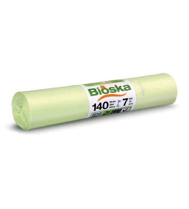 Bioska 140 l 7 kpl natural biojätesäkki