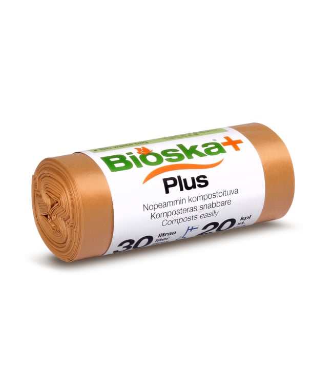 Bioska+ 30 l 20 kpl ruskea bioroskapussi