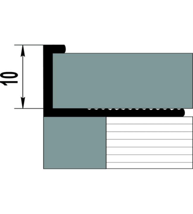 Pisla 10x2500 mm alumiini laattalista
