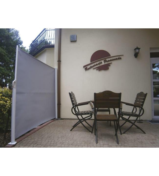 Pisla 1,2x3m akryyli valk/harm sivumarkiisi