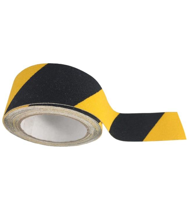 Pisla 50mm x 5m musta/keltainen liukuesteteippi ulkokäyttöön