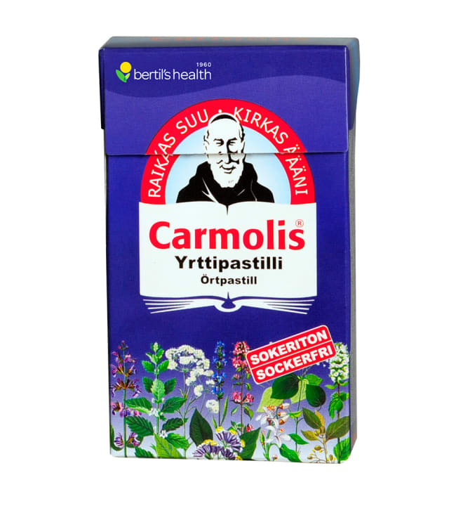 Carmolis 45 g sokeriton yrttipastilli