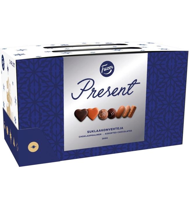 Fazer Present 3-pack 260 g suklaakonvehti