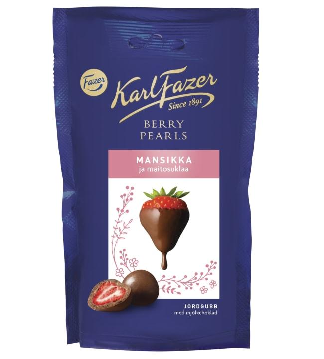 Fazer Berry Pearls 90 g mansikka ja maitosuklaa