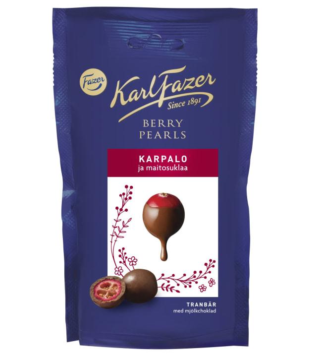 Fazer Berry Pearls 90 g karpalo ja maitosuklaa