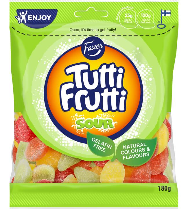 Fazer Tutti Frutti Sour 180 g karkkipussi