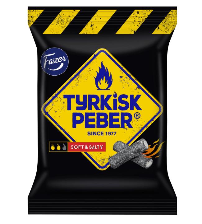 Fazer Tyrkisk Peber Soft&Salty 120 g salmiakkilakritsipussi