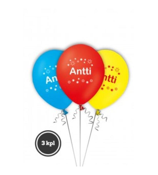 Nimi-ilmapallot 3kpl