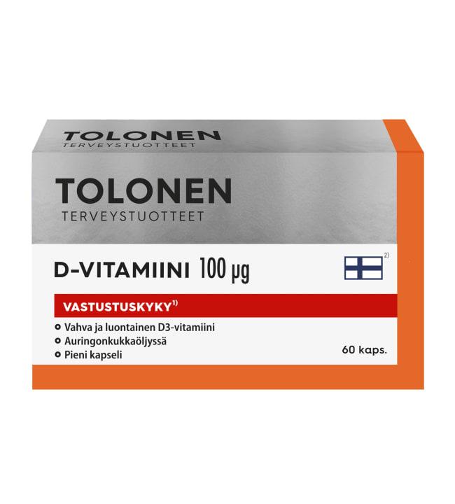 Tri Tolonen D-vitamiini 100 μg 60 kaps. vitamiinivalmiste