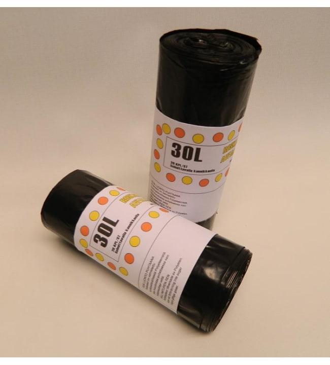 Roskakassi musta 30 l 20 kpl/rll