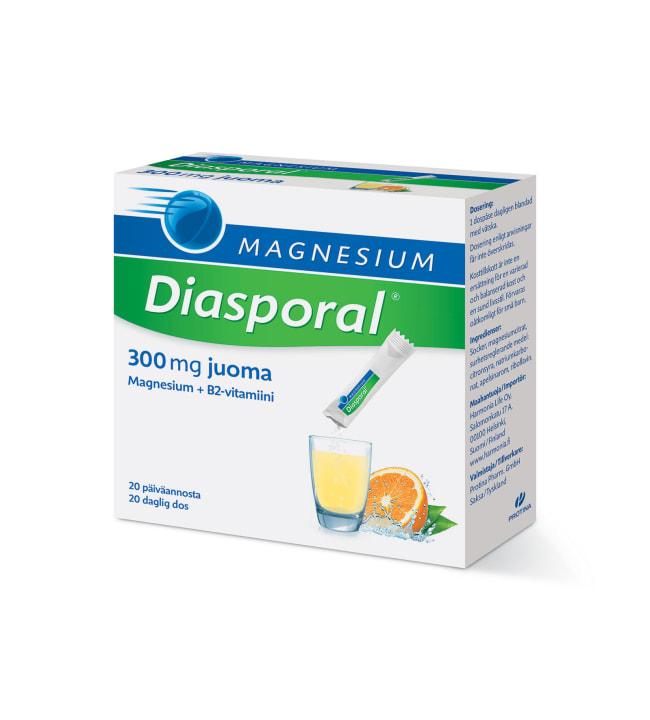 Magnesium Diasporal 300 20 pss ravintolisäjauhe