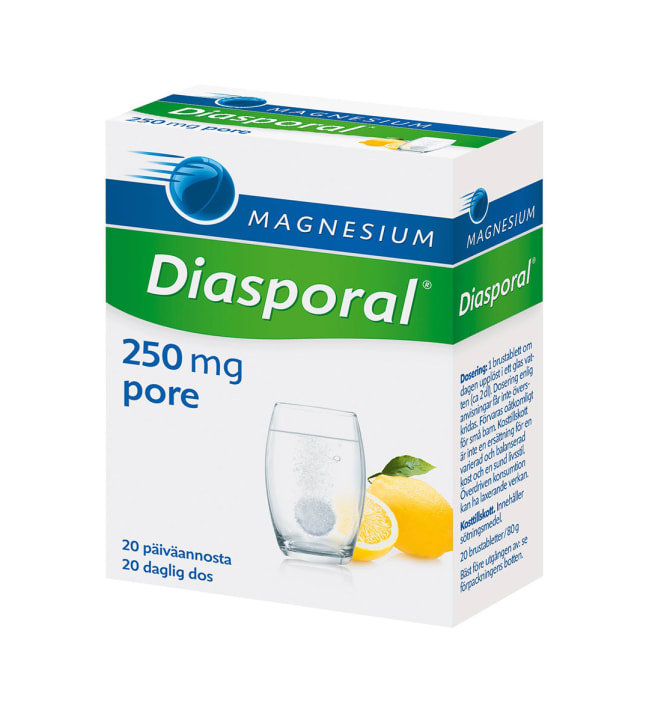 Diasporal Aktiv 250 20 kpl / 80 g magnesiumporetabletti