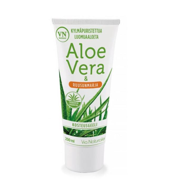 Via Naturale Aloe Vera & Ruusunmarja 200 ml kosteusgeeli