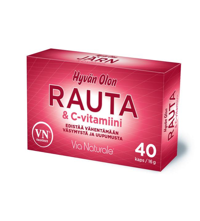 Hyvän Olon Rauta+C-vitamiini 40 kaps. ravintolisä