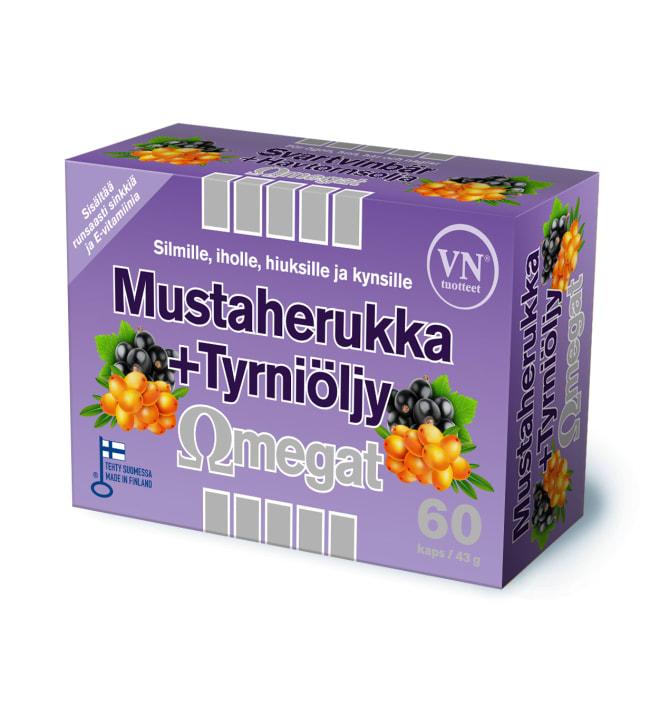 Mustaherukka+Tyrniöljy Omegat 60 kaps. ravintolisä