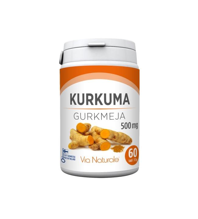 Via Naturale Kurkuma 500 mg  60 tabl. ravintolisä