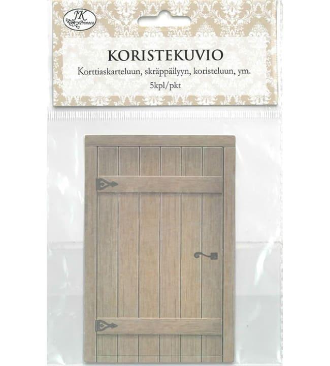 J.K. Primeco Ruskea puuovi 5 kpl koristekuvio